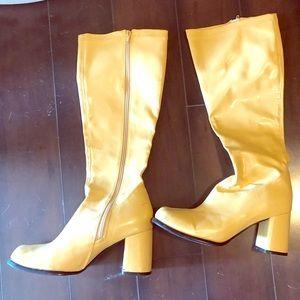 Yellow gogo boots